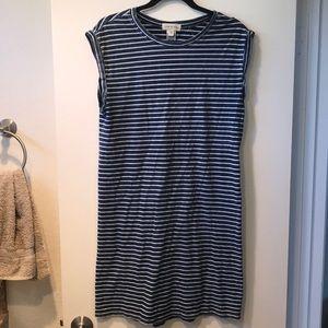 Relaxed Stripe T-shirt Dress